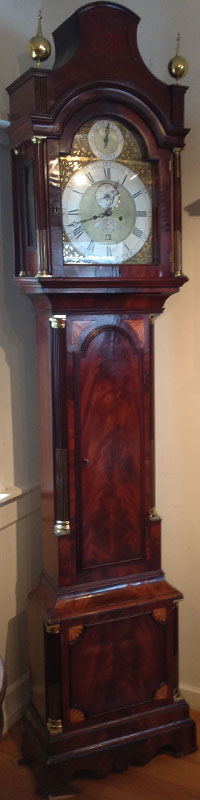 Wallnut longcase clock