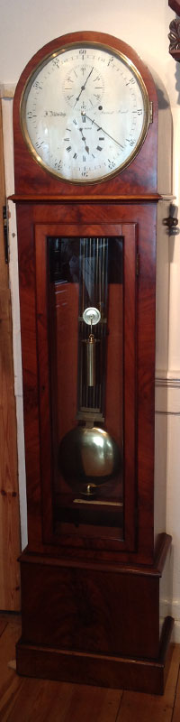 antique boudouir longcase clock