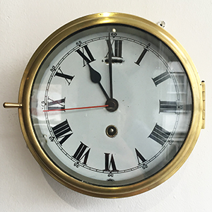 Brass ships wall clock