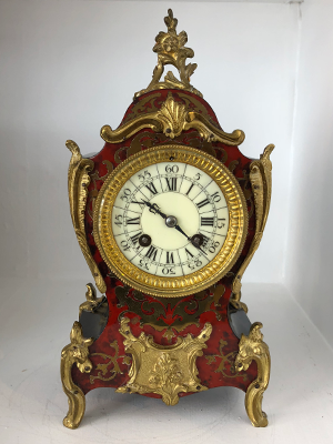 French boule mantle clock