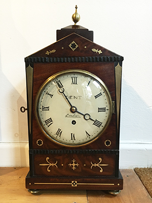 Antique bracket clock by Dent of Oxford Street
