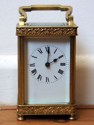 French repeator carriage clock