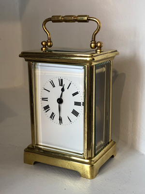 French 8 day carriage clock