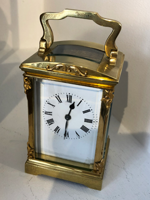 Unusual French carriage clock