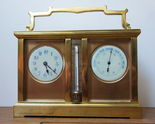 Weather station carriage clock