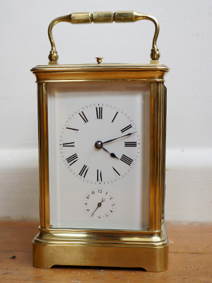 french four glass clock