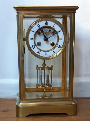 four glass french carriage clock