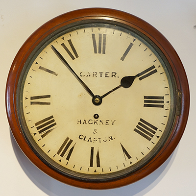 Antique Fusee dial wall clock