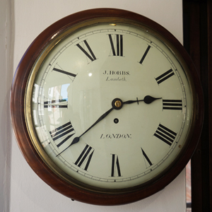Antique Wall Clock by J Hobbs